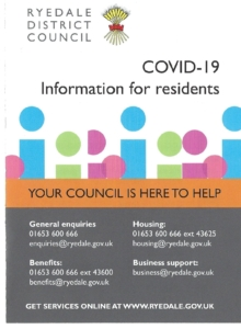 COVID-19 Leaflet Front Page