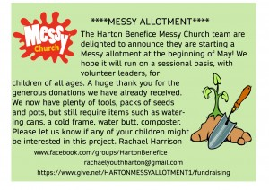messy allotment march newsletter.