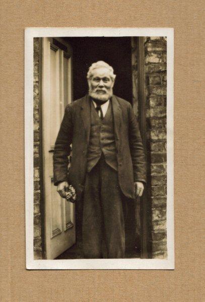 Sedman Ashton November 12th 1934 at front door of Kiora House